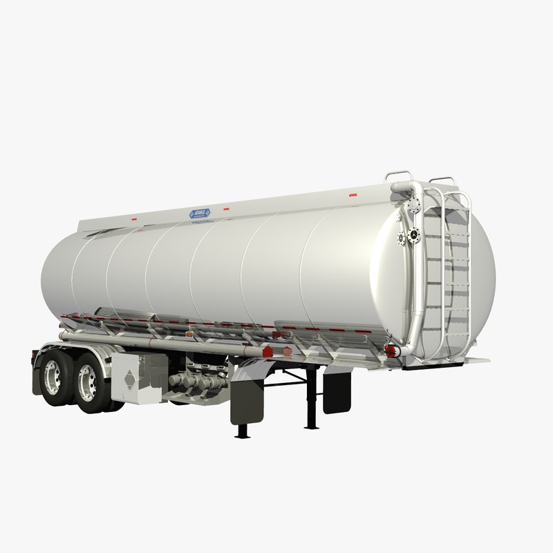 3d model 32ft tanker trailer