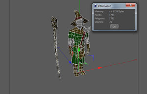 3d model human wizard