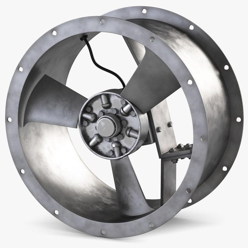 industrial fan 3d 3ds