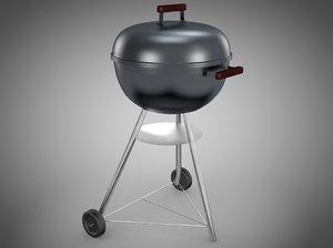 3d model weber barbecue