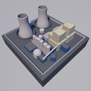 3d mini nuclear power plant model