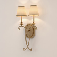 3d model rustic bronze sconce