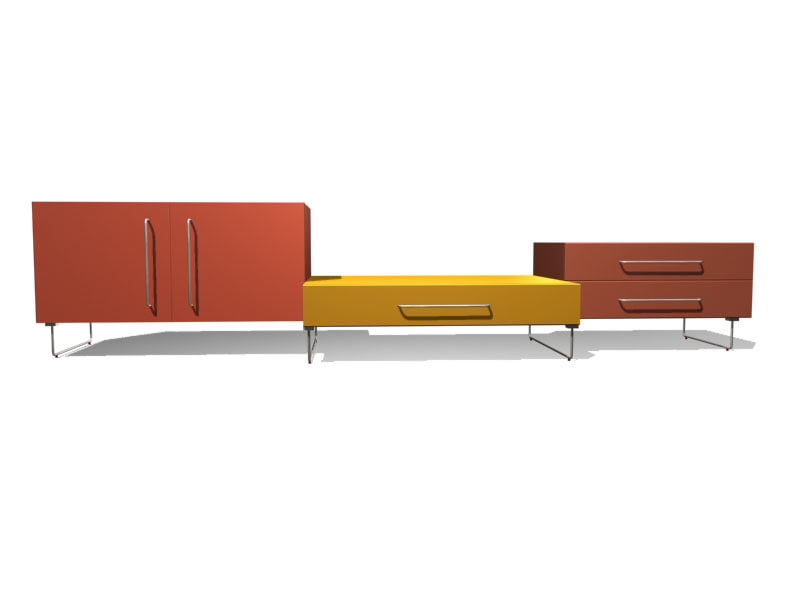 3d model plan 1 cabinets