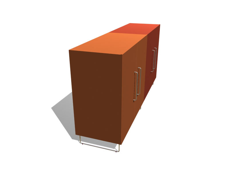 3d model plan 3 cabinets