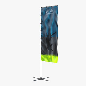 3ds max banner stand 5