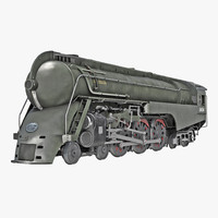 NYC Dreyfuss Hudson Steam Locomotive 3D Model