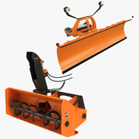 3d snowplow snow