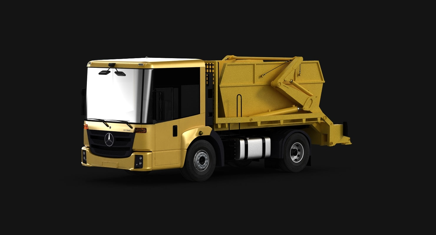 septic tank truck garbage 3d ma