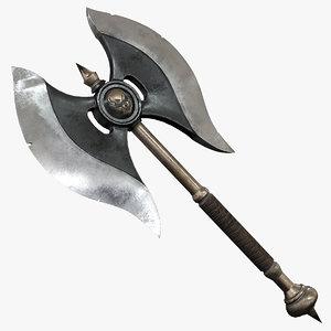 warrior barbarian axe max