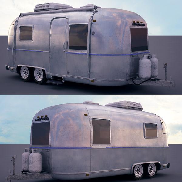 airstream trailer 3d max