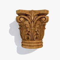 Wooden capital