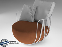 3d model chair armchair leather
