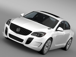 3d model of buick regal gs 2015