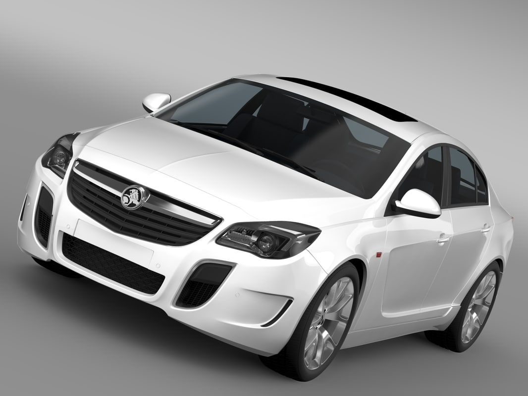 3d holden insignia vxr 2016 model