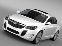 3d holden insignia vxr 2016 model