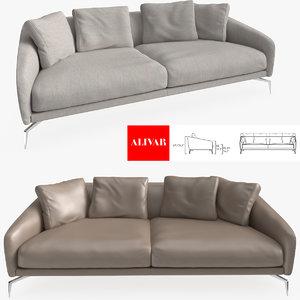 3d model alivar land sofa design