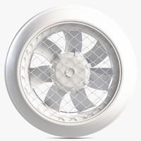 3d model indoor fan