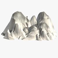 c4d mountains