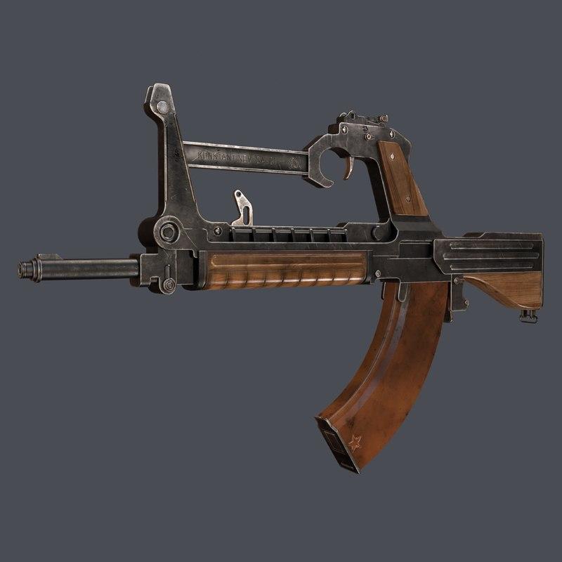 3d bullpup konstantinov rifles sa-01