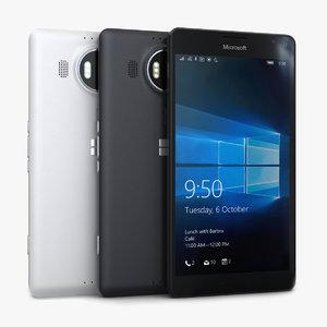 3d model microsoft lumia 950 xl