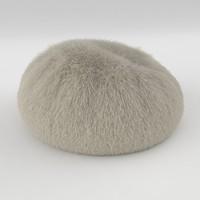 fur pouf 3d model