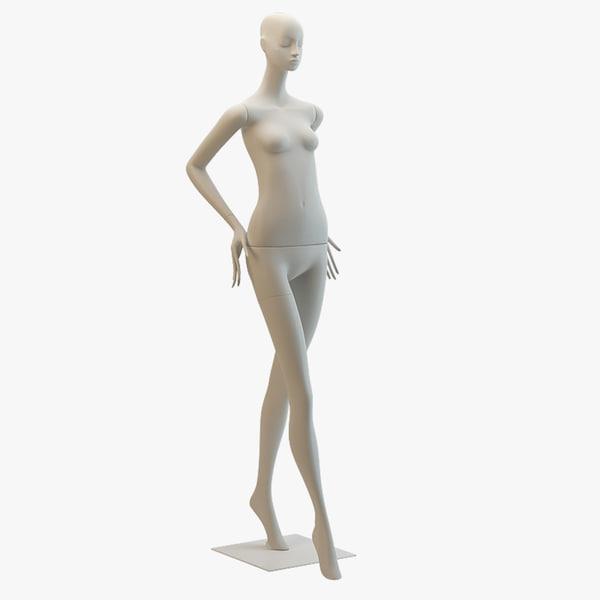 3d bonaveri mannequin aloof pose model
