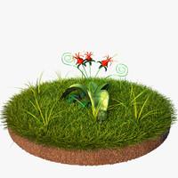 scene plants 3d max