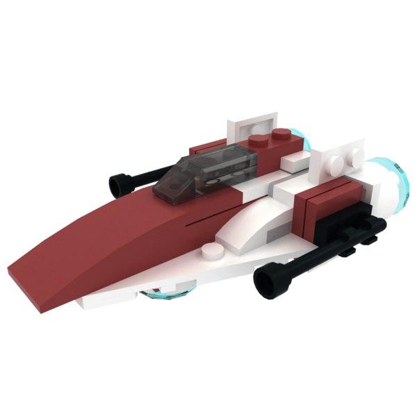 3ds lego a-wing starfighter mini