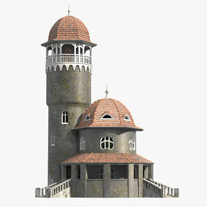 3d old water tower