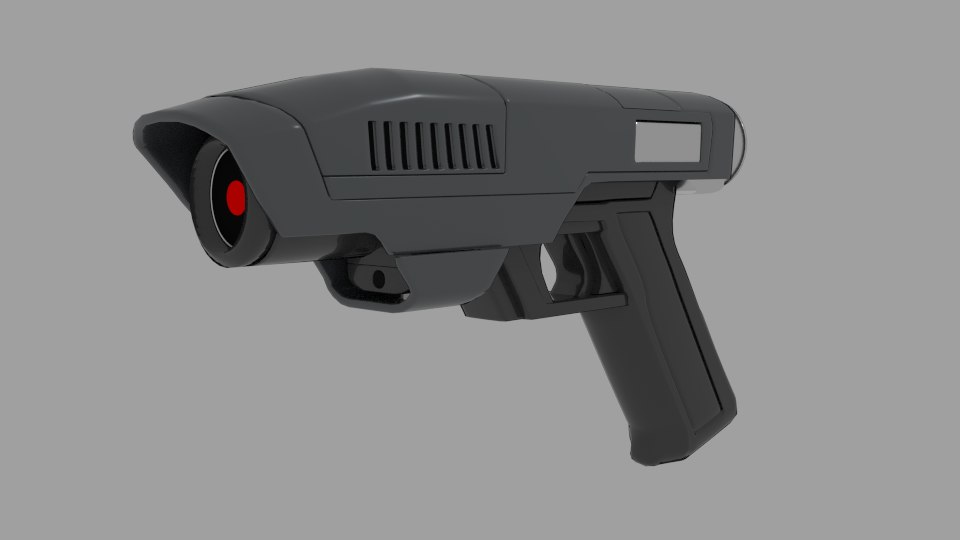 medium laser gun 3d 3ds