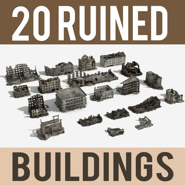 ruined building damaged collections max