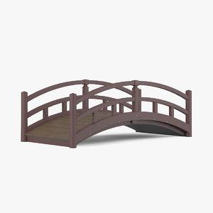 3d model wooden bridge