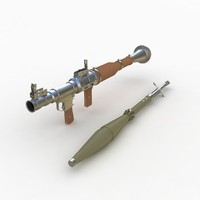 rpg-7 rocket launcher 3d max