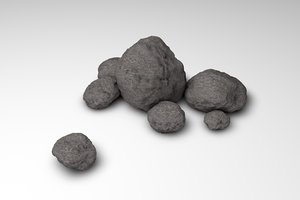 free 39 different rocks 3d model