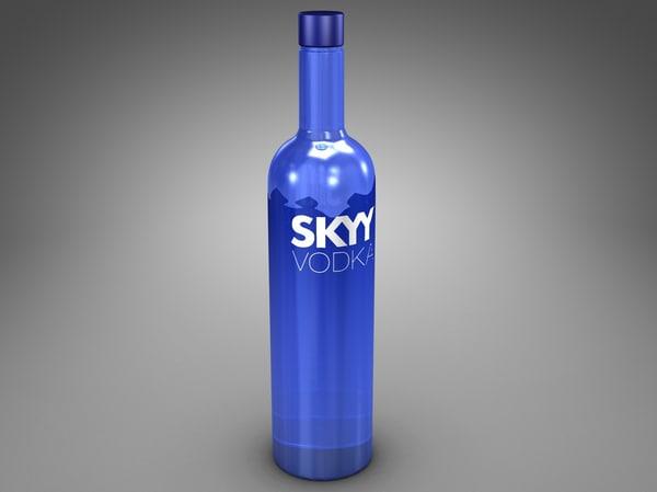 3d bottle skyy vodka