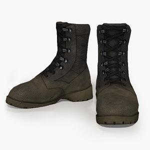 bundeswehr soldier boots 3d model