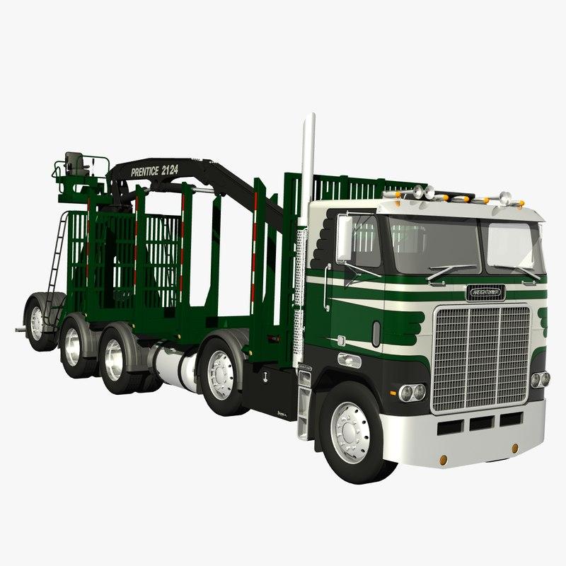 3d freightliner powerliner logger