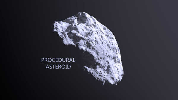 asteroid modeled 3d model