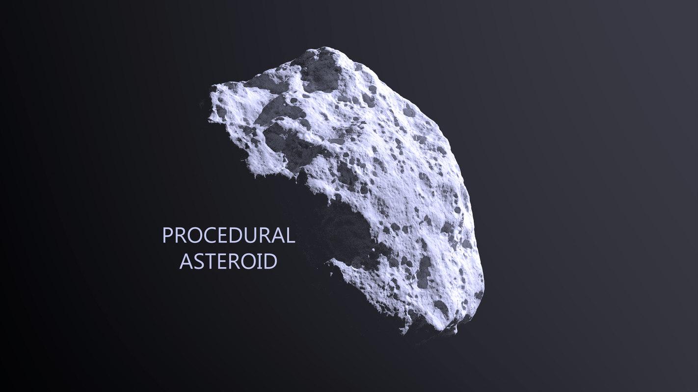 asteroid modeled 3d model