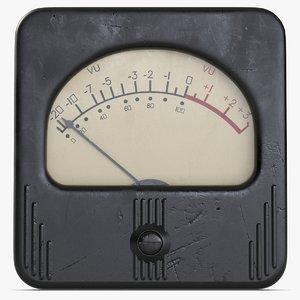 3ds max vintage meter