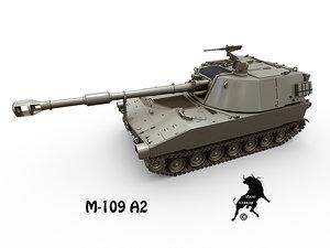 3d m-109 a2 artillery model