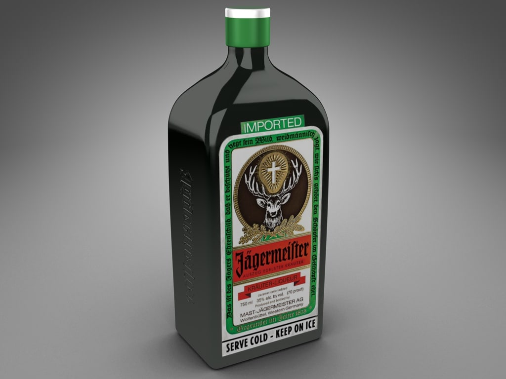 3ds bottle jagermeister