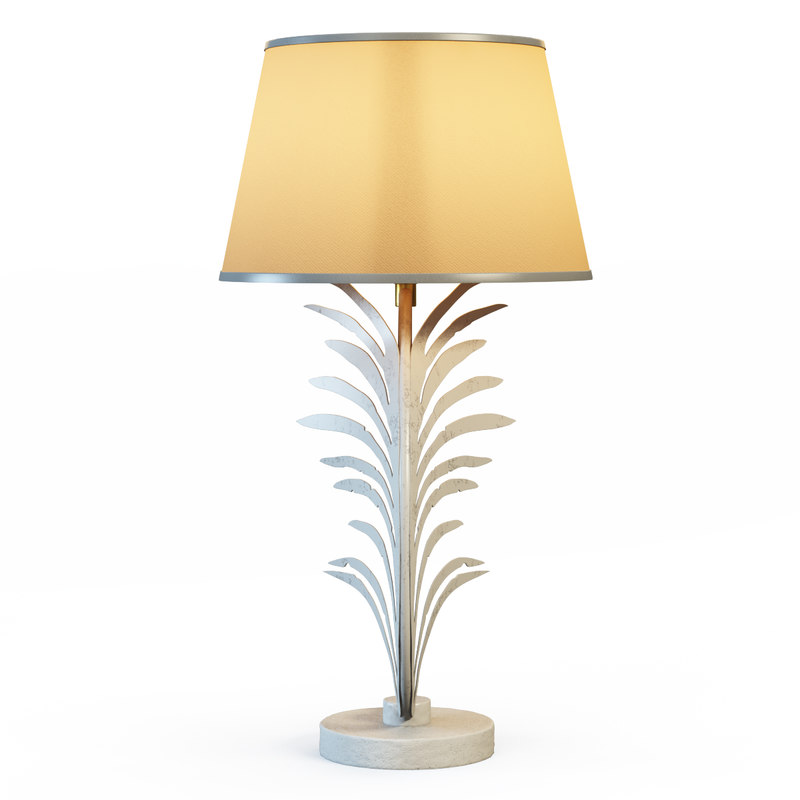 3d palm frond table lamps