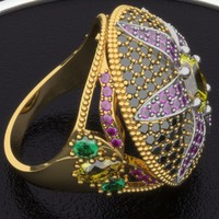 3d model cnc ring diamond