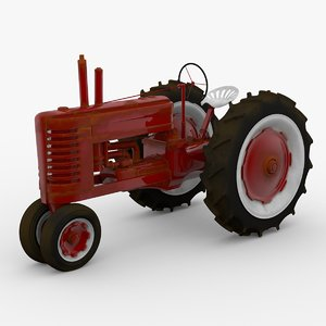 vintage field tractor 3ds