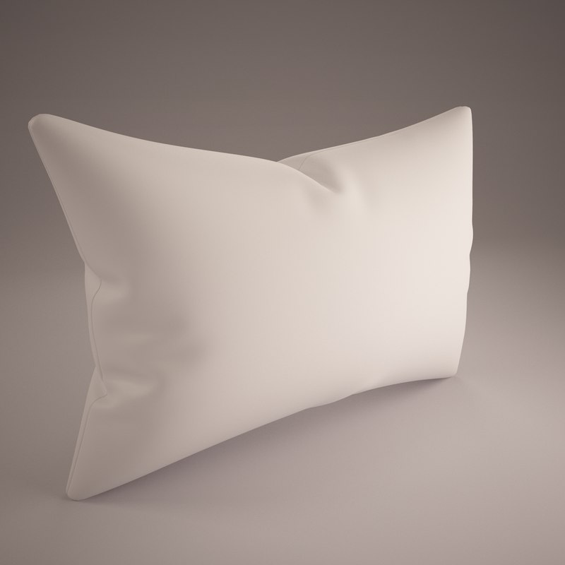 3d white pillow 50x70cm model