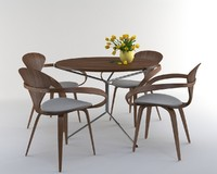 Cherner table set with tulip flower