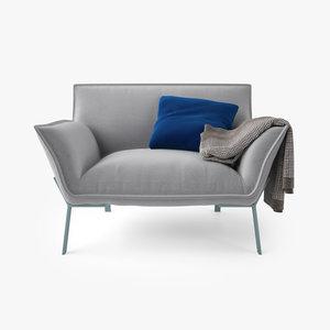 3d jardan lewis armchair model