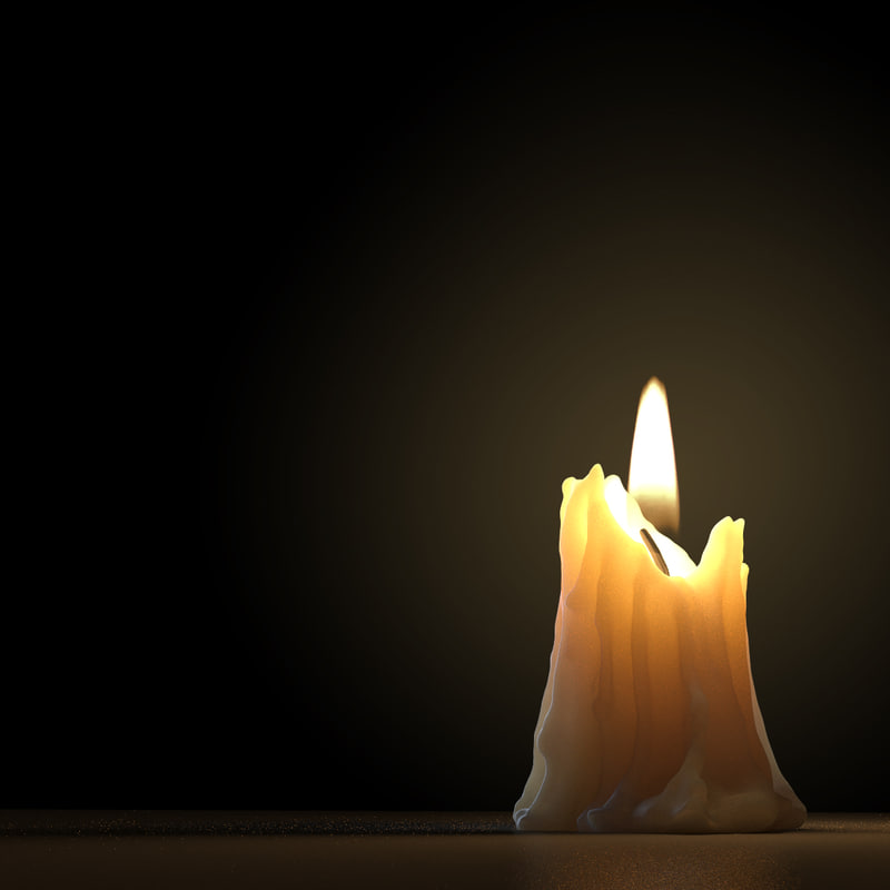 Candle Melted