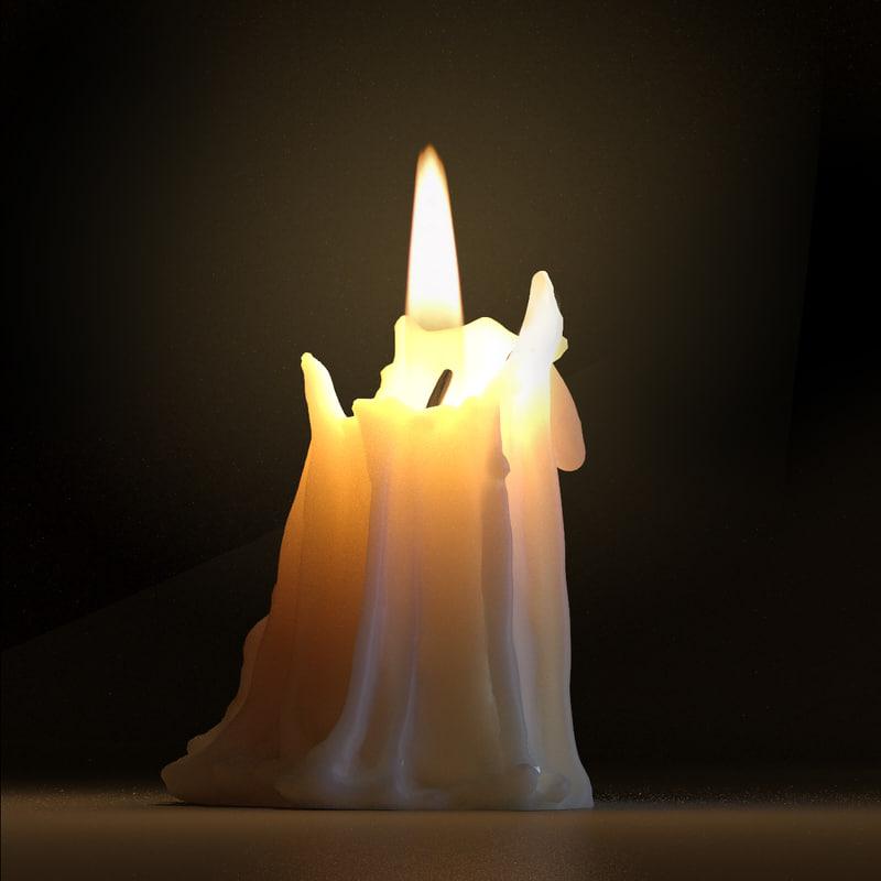 maya candle modeled light